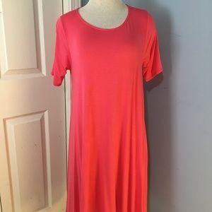 Joplin Dress Coral Bright